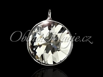 Amulety ochrana - Andělská hvězda medailon s krystalem Swarovski