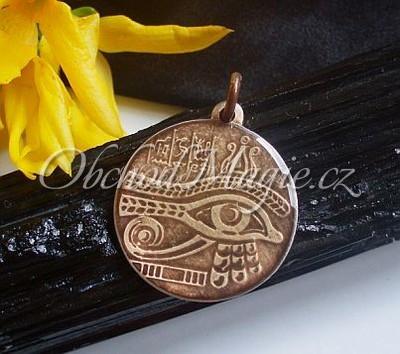 Amulety egyptské -Horovo oko (Udjat) - magický amulet