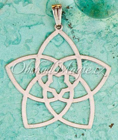 Amulety láska -KVĚT VENUŠE,  přívěsek, nerez ocel