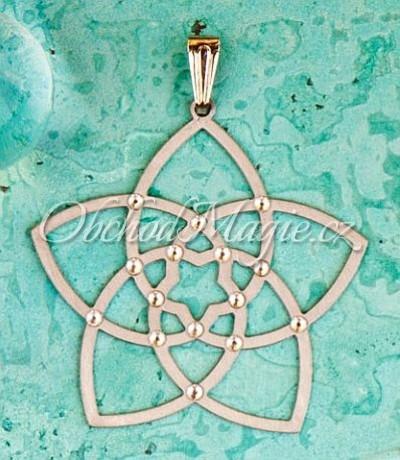 Amulety láska -KVĚT VENUŠE,  přívěsek,  s 15 krystaly Swarovski