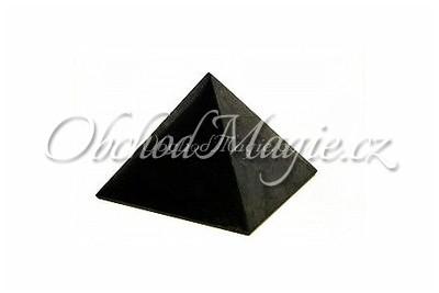 Šungit-PYRAMIDA, ŠUNGIT, leštěná, 3 cm