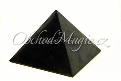 Pyramidy-PYRAMIDA, ŠUNGIT, leštěná, 10 cm