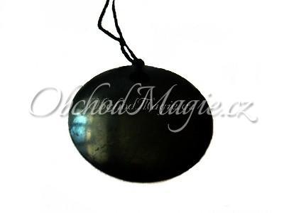 Šperky z kamenů-ŠUNGIT, přívěsek, kulatý