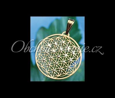Květ života šperky-KVĚT ŽIVOTA, pozlacený, přívěsek,  Swarovski