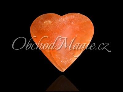 Mýdla a srdíčka-SELENIT, srdce, broušené, oranžové