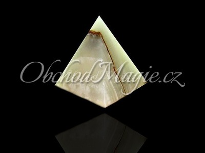 Pyramidy-PYRAMIDA, ONYX, broušená,  15 cm