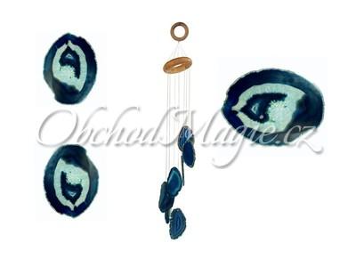 Zvonkohry Feng Shui-ZVONKOHRA ACHÁT, modrá, velká