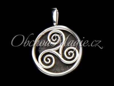 Šperky keltské-Triskel v kruhu přívěsek Ag 925/1000