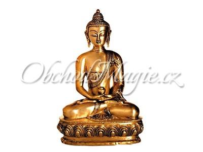 Buddha-Buddha meditující socha mosaz 20cm