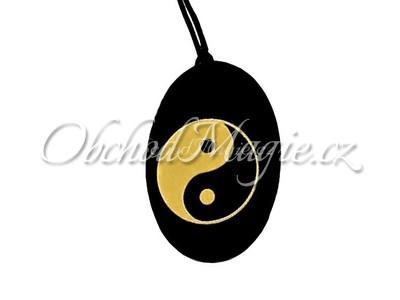 Šperky z kamenů-ŠUNGIT, přívěsek,  JIN A JANG