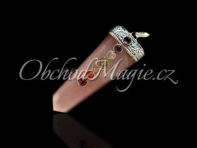 Čakrové šperky-ČAKROVÝ PŘÍVĚSEK, s drahými kameny, RŮŽENÍN