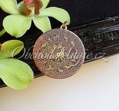 Amulety ostatní -Čínský měsíční kalendář - magický amulet
