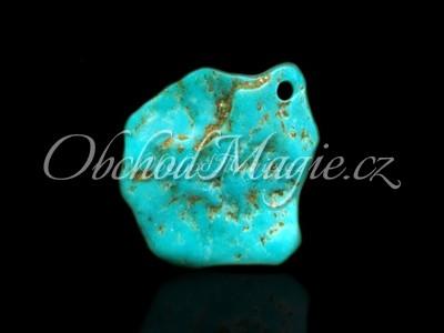 Šperky z kamenů-TYRKYS PRAVÝ,  přívěsek, amulet, 4 cm