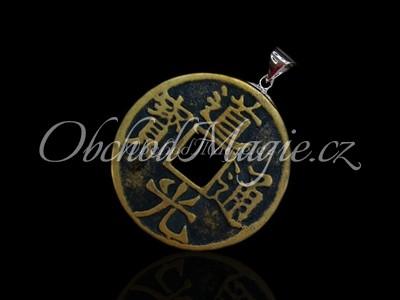 Mince štěstí-Přívěšek mince štěstí