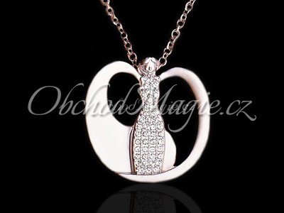 Šperky Swarovski-ANDĚL SVĚTLA, náhrdelník,  s krystaly SWAROVSKI