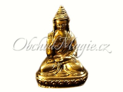 Buddha-Amoghasiddhi Buddha socha mosaz 7,5cm