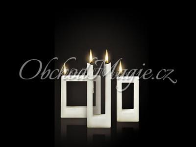 Designové svíčky Alusi-QUADRA, svíčka, ALUSI, 16 cm