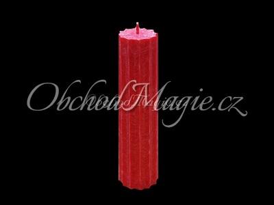 Magické svíce hvězda s cípy-Magická svíčka rudě červená, hvězda 12 cípů