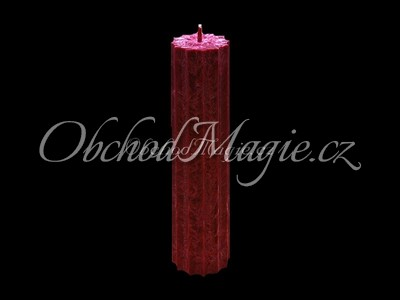 Magické svíce hvězda s cípy-Magická svíčka vínová, hvězda 12 cípů