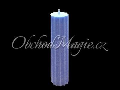Magické svíce hvězda s cípy-Magická svíčka světle modrá, hvězda 12 cípů