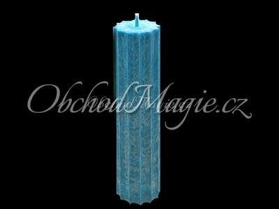 Magické svíce hvězda s cípy-Magická svíčka tyrkysová, hvězda 12 cípů