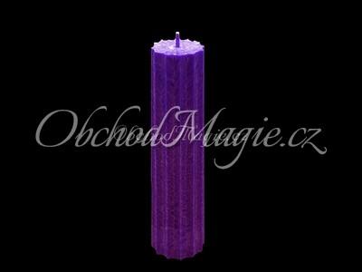 Magické svíce hvězda s cípy-Magická svíčka fialová, hvězda 12 cípů