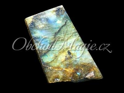 Krystaly, drůzy a geody-Labradorit destička leštěná 6 cm, Madagaskar