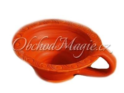 Vykuřovací misky-Vykuřovací miska červená terakota, 13 cm