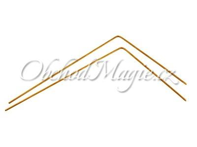 Virgule, tenzory-Virgule z mosazi 24cm