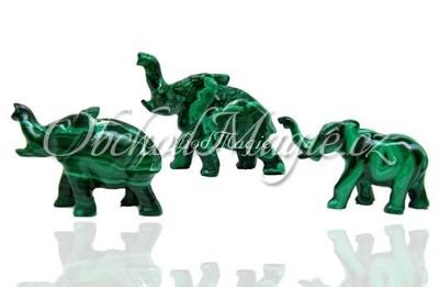 Sloni-Slon malachit 7 cm