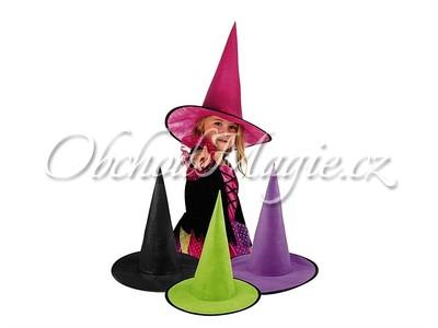 Klobouky čarodějnické-Dětský čarodějnický klobouk černý