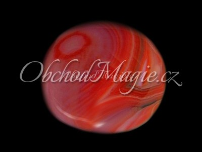 Mýdla a srdíčka-Karneol tromlovaná masážní hmatka