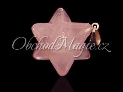 Šperky z kamenů-Merkaba přívěsek růženín
