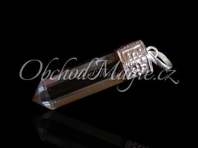 Šperky z kamenů-KŘIŠŤÁL, krystal, přívěsek, galvanika