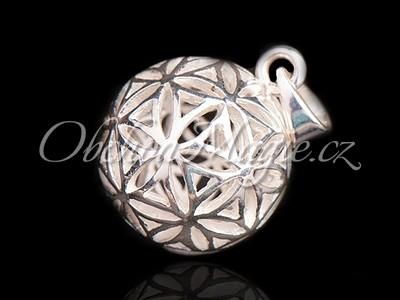 Květ života a květ Venuše-Květ života kulička, přívěsek stříbro
