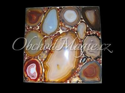 Dárky a dekorace-Achát světelný panel 40 cm