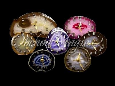 Dárky a dekorace-Achátové hodiny 11cm
