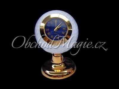 Dárky a dekorace-Hodiny golfový míček s Lapis Lazuli