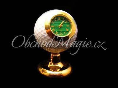 Dárky a dekorace-Hodiny golfový míček s Malachitem