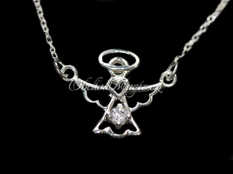 4ced8fe71 Anděl lásky náhrdelník stříbro se zirkonem Ag 925/1000, Šperky láska