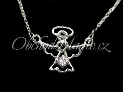 Šperky láska-Anděl lásky náhrdelník stříbro se zirkonem Ag 925/1000