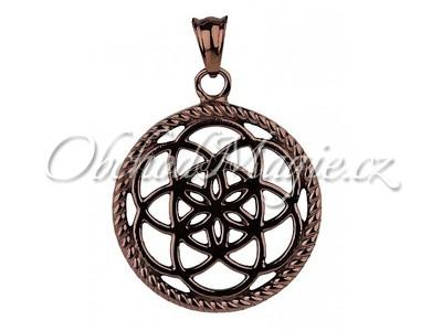 Amulety ochrana -LAPAČ SNŮ KVĚT MOKA přívěsek