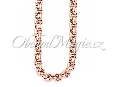 Řetízky, šňůrky, krabičky-Řetízek chirurgická ocel rosé 70 cm