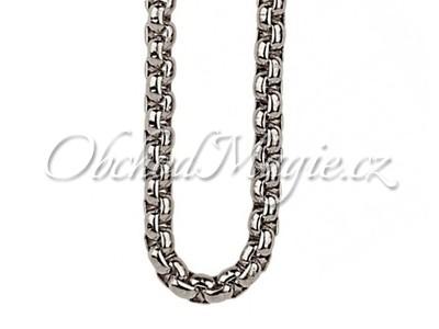Řetízky, šňůrky, krabičky-Řetízek chirurgická ocel silver 80 cm