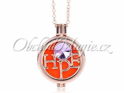 Aroma náhrdelníky-Aromaterapie medailon náhrdelník Hope