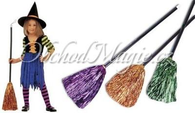 Dopravní prostředky-Koště čarodějnické dětské - 2 barvy
