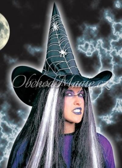 Klobouky čarodějnické-Čarodějnický klobouk s pavouky