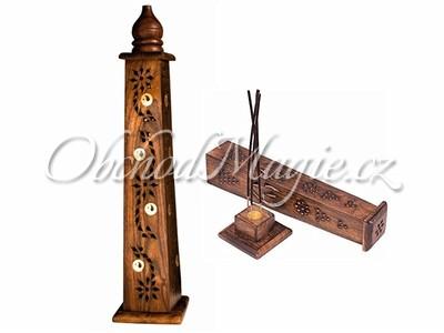 Stojánky, talířky a věže-Věž stojánek na vonné tyčinky Jin a Jang