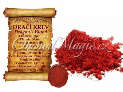 Pečetidla a vosky-Dračí krev, sypaný prášek, 10 g
