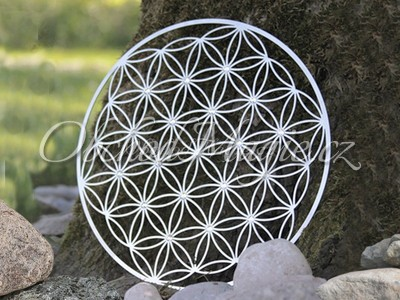 Květ života a květ Venuše-Květ života nástěnná dekorace s krystaly Swarovski 44 cm